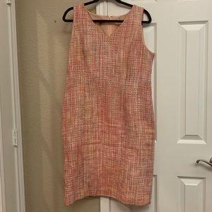 Talbots Pink Tweed Dress